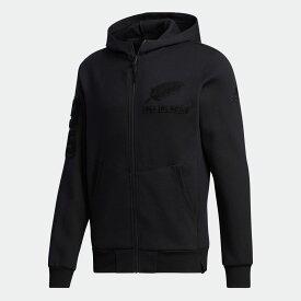 【公式】アディダス adidas ラグビー オールブラックス スウェットジャケット / All Blacks Sweat Jacket メンズ ウェア トップス パーカー スウェット 黒 ブラック GD9046 トレーナー