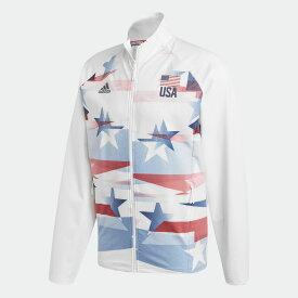 【公式】アディダス adidas バレーボール USA バレーボール メンズ ウォームアップ ジャケット / USA Volleyball Warmup Jacket Men メンズ ウェア アウター ジャケット 白 ホワイト FU0101 p1126