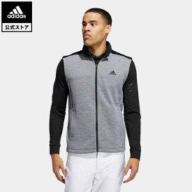 【公式】アディダス adidas 返品可 ゴルフ ファブリックミックス フルジップスウエットベスト / Hybrid Vest メンズ ウェア・服 アウター ジャケット 黒 ブラック FS6921 notp