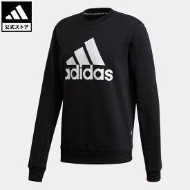 【公式】アディダス adidas 返品可 バッジ オブ スポーツ フリース スウェットシャツ / Badge of Sport Fleece Sweatshirt メンズ ウェア トップス スウェット(トレーナー) 黒 ブラック GC7336