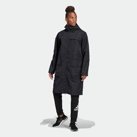 【公式】アディダス adidas シェル ロングジャケット / Shell Long Jacket アスレティクス メンズ ウェア アウター ジャケット 黒 ブラック FS4304 p0122