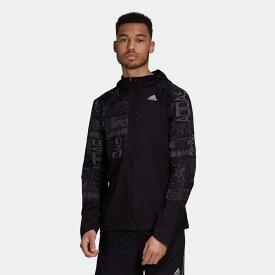 【公式】アディダス adidas ランニング オウン ザ ラン リフレクティブ ジャケット / Own the Run Reflective Jacket メンズ ウェア アウター ジャケット 黒 ブラック FS9811 ランニングウェア p0122