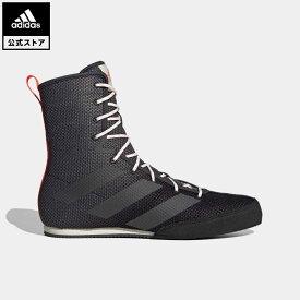 【公式】アディダス adidas 返品可 ボクシング Box Hog 3 レディース メンズ シューズ・靴 スニーカー 黒 ブラック FV6586 ミドルカット