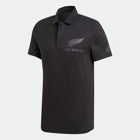 【公式】アディダス adidas ラグビー オールブラックス サポーターポロシャツ / All Blacks Supporters Polo Shirt メンズ ウェア トップス ポロシャツ 黒 ブラック FS0705