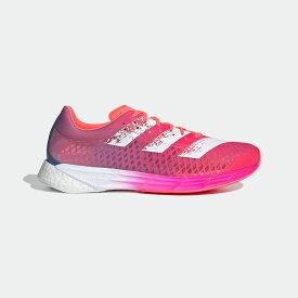 【公式】アディダス adidas ランニング アディゼロ プロ / Adizero Pro メンズ シューズ スポーツシューズ ピンク FW9253 スパイクレス ランニングシューズ