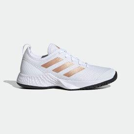 【公式】アディダス adidas テニス コートコントロール W / Court Control W レディース シューズ スポーツシューズ 白 ホワイト FX3444 テニスシューズ スパイクレス