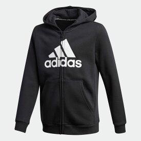 【公式】アディダス adidas マストハブ フリース フルジップ パーカー / Must Haves Fleece Full-Zip Hoodie キッズ ウェア トップス パーカー(フーディー) ジャージ 黒 ブラック GE0644 トレーナー p0122