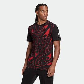 【公式】アディダス adidas ラグビー マオリ G-Tシャツ メンズ ウェア トップス Tシャツ 黒 ブラック GH5019 半袖 p1126