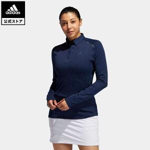 【公式】アディダス adidas ゴルフ ブラッシュドストライプ 長袖ボタンダウンシャツ 【ゴルフ】/ Brushed Long Sleeve Polo Shirt レディース ウェア トップス ポロシャツ 青 ブルー FS6344 p1023