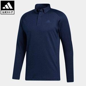 【公式】アディダス adidas ゴルフ ブラッシュドストライプ 長袖ボタンダウンシャツ 【ゴルフ】/ Brushed Pullover メンズ ウェア トップス ポロシャツ 青 ブルー FS6845 p1023