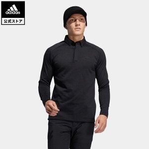【公式】アディダス adidas ゴルフ ブラッシュドワッフル 長袖ボタンダウンシャツ 【ゴルフ】/ Warm Fleece Pullover メンズ ウェア トップス ポロシャツ 黒 ブラック FS6850 p1023