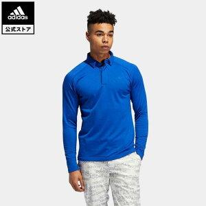 【公式】アディダス adidas ゴルフ ブラッシュドワッフル 長袖ボタンダウンシャツ 【ゴルフ】/ Warm Fleece Pullover メンズ ウェア トップス ポロシャツ 青 ブルー FS6851 p1023