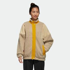 【公式】アディダス adidas 3ストライプス シェルパジャケット / Three Stripes Sherpa Jacket アスレティクス レディース ウェア アウター コート ベージュ GF6929 p1030