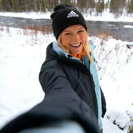 【公式】アディダス adidas ロゴ ビーニー / Logo Beanie レディース メンズ アクセサリー 帽子 ウーリー 黒 ブラック FS9022 ニット帽
