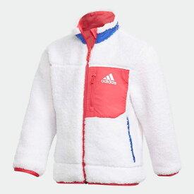 全品送料無料! 03/04 20:00〜03/11 09:59 【公式】アディダス adidas ジム・トレーニング リバーシブル ボアジャケット / Reversible BOA Jacket キッズ ウェア アウター ジャケット 白 ホワイト GG3538 p0304