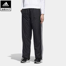 【公式】アディダス adidas 返品可 マストハブ 3ストライプス ウォームパンツ / Must Haves 3-Stripes Warm Pants アスレティクス レディース ウェア・服 ボトムス ジャージ パンツ 黒 ブラック GF6931 下