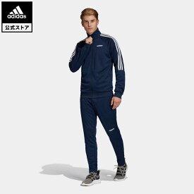 【公式】アディダス adidas サッカー セレーノ トラックスーツ(ジャージ セットアップ) / Sereno Track Suit メンズ ウェア セットアップ ジャージ 青 ブルー FN5796 上下 p0409