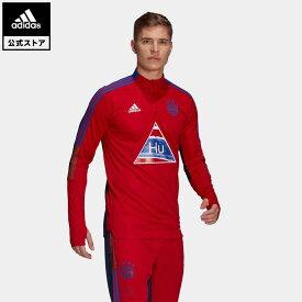 【公式】アディダス adidas 返品可 サッカー FCバイエルン Human Race トレーニングトップ / FC Bayern Human Race Training Top レディース メンズ ウェア・服 アウター ジャケット ジャージ 赤 レッド GK7840