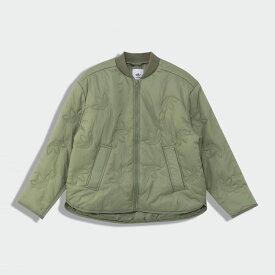 【公式】アディダス adidas トレフォイル ライナー ジャケット オリジナルス レディース ウェア アウター ジャケット 緑 グリーン GD2514 p0122
