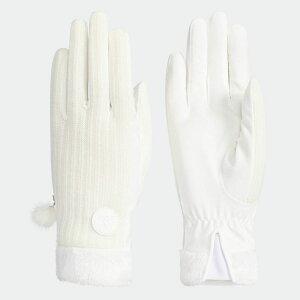 【公式】アディダス adidas ゴルフ ウィメンズ ウォームペアグローブ18 レディース アクセサリー 手袋/グローブ 白 ホワイト M72275
