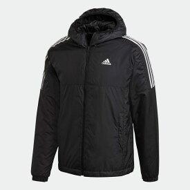 【公式】アディダス adidas アウトドア エッセンシャルズ インサレーテッド フード付きジャケット / Essentials Insulated Hooded Jacket メンズ ウェア アウター ジャケット 黒 ブラック GH4601 p0122