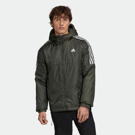 【公式】アディダス adidas アウトドア エッセンシャルズ インサレーテッド フード付きジャケット / Essentials Insulated Hooded Jacket メンズ ウェア アウター ジャケット 緑 グリーン GH4602 p0122