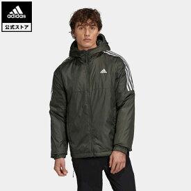 【公式】アディダス adidas 返品可 アウトドア エッセンシャルズ インサレーテッド フード付きジャケット / Essentials Insulated Hooded Jacket メンズ ウェア アウター ジャケット 緑 グリーン GH4602