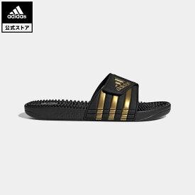 【公式】アディダス adidas 水泳 アディサージ サンダル / Adissage Slides レディース メンズ シューズ サンダル 黒 ブラック EG6517