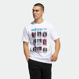【公式】アディダス adidas ビンテージ スポーツカード Tシャツ オリジナルス メンズ ウェア トップス Tシャツ 白 ホワイト FM1539 半袖 p1204