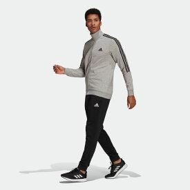 【公式】アディダス adidas M ESS 3ストライプス スウェットスーツ メンズ ウェア セットアップ ジャージ グレー GK9975 上下 p0225