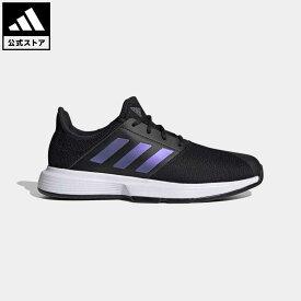 【公式】アディダス adidas テニス GameCourt M MC メンズ シューズ スポーツシューズ 黒 ブラック FX1553 テニスシューズ