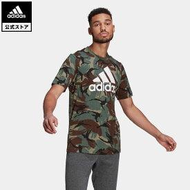 【公式】アディダス adidas エッセンシャルズ カモフラージュ Tシャツ / Essentials Camouflage Tee メンズ ウェア トップス Tシャツ 緑 グリーン GK9808 半袖