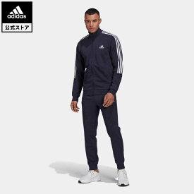 【公式】アディダス adidas 返品可 AEROREADY エッセンシャルズ 3ストライプス トラックスーツ / AEROREADY Essentials 3-Stripes Track Suit メンズ ウェア・服 セットアップ ジャージ 青 ブルー GK9977 上下
