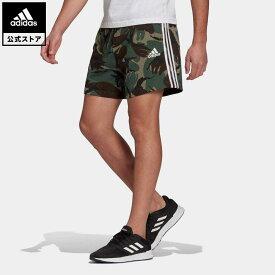【公式】アディダス adidas エッセンシャルズ フレンチテリー カモフラージュ ショーツ / Essentials French Terry Camouflage Short メンズ ウェア ボトムス スウェット(トレーナー) ハーフパンツ 緑 グリーン GK9621 p0409