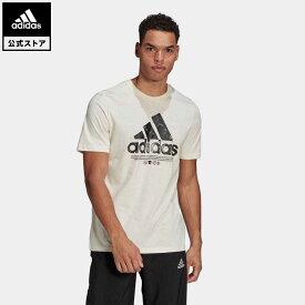 【公式】アディダス adidas リサイクル コットン ロゴ グラフィック 半袖Tシャツ / Recycled Cotton Logo Graphic Tee メンズ ウェア トップス Tシャツ GL3697 半袖