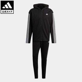 【公式】アディダス adidas アディダス スポーツウェア リブインサート トラックスーツ / adidas Sportswear Ribbed Insert Track Suit アスレティクス メンズ ウェア セットアップ ジャージ 黒 ブラック GM3827 上下