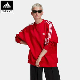 【公式】アディダス adidas アディカラー クラシックス オーバーサイズ スウェット オリジナルス レディース ウェア トップス スウェット 赤 レッド GN2829 coupon対象0429