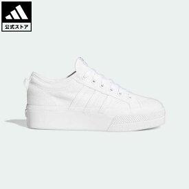 【公式】アディダス adidas 返品可 ニッツァ プラットフォーム / Nizza Platform オリジナルス レディース シューズ・靴 スニーカー 白 ホワイト FV5322 ローカット