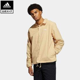 【公式】アディダス adidas 返品可 スケートボーディング コーチシャツ(ジェンダーニュートラル) オリジナルス レディース メンズ ウェア トップス シャツ ベージュ GL9969