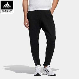 【公式】アディダス adidas 返品可 24/7 ウォームアップ トラックパンツ / 24/7 WARM UP TRACK PANTS アスレティクス メンズ ウェア・服 ボトムス ジャージ パンツ 黒 ブラック GN0745 下