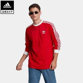 【公式】アディダス adidas 返品可 アディカラー クラシックス 3ストライプ 長袖Tシャツ オリジナルス レディース メンズ ウェア トップス Tシャツ 赤 レッド GN3489 ロンt fathersday