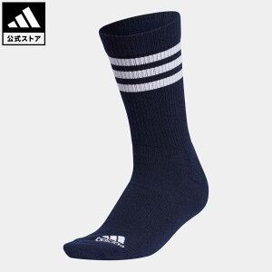 【公式】アディダス adidas 返品可 ゴルフ ウィメンズ スリーストライプ クルーソックス / 3-Stripes Crew Socks レディース アクセサリー ソックス・靴下 クルーソックス 青 ブルー GL8803 notp