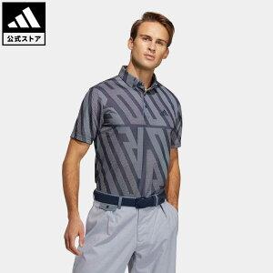 【公式】アディダス adidas 返品可 ゴルフ ADIDASジャカード 半袖ボタンダウンシャツ / Polo Shirt メンズ ウェア トップス ポロシャツ 青 ブルー GM3634 notp
