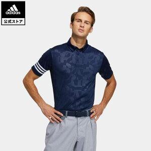 【公式】アディダス adidas 返品可 ゴルフ エンボスプリント 半袖ボタンダウンシャツ / Polo Shirt メンズ ウェア トップス ポロシャツ 青 ブルー GM3664 notp
