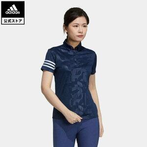 【公式】アディダス adidas 返品可 ゴルフ エンボスプリント 半袖ボタンダウンシャツ / Polo Shirt レディース ウェア トップス ポロシャツ 青 ブルー GM3670 mothersday2021 notp