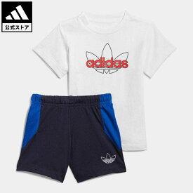 【公式】アディダス adidas 返品可 adidas SPRT コレクション ショーツ&グラフィックTシャツセット オリジナルス キッズ ウェア セットアップ GN2268 eoss21ss 上下