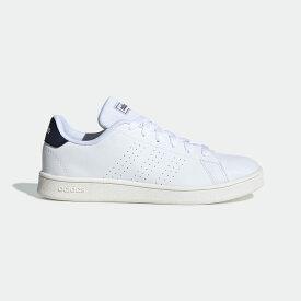 【公式】アディダス adidas テニス 子供用 アドバンテージ [Advantage Shoes] キッズ シューズ スポーツシューズ 白 ホワイト FW2588 スパイクレス テニスシューズ