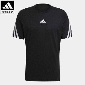 【公式】アディダス adidas 返品可 アディダス スポーツウェア 3ストライプス テープTシャツ / adidas Sportswear 3-Stripes Tape Tee アスレティクス メンズ ウェア・服 トップス Tシャツ 黒 ブラック GP4118 半袖