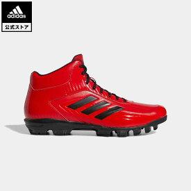 【公式】アディダス adidas 返品可 野球・ベースボール アディゼロ スタビル ポイント ミッド 60 / Adizero Stabile Point Mid 60 Cleats メンズ シューズ・靴 スポーツシューズ 赤 レッド FY1810