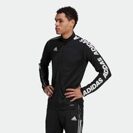 【公式】アディダス adidas サッカー ティロ アシンメトリー テープ ジャケット / Tiro Asymmetrical Tape Jacket メンズ ウェア アウター ジャケット ジャージ 黒 ブラック GU9498 p0304